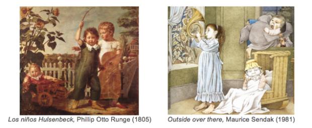 Los niños y outside